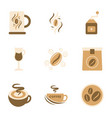 assembly flat icons coffee vector image vector image