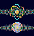 atom as a particle and wave vector image vector image