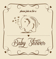 baby shower card with retro toy vector image vector image