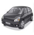 black hatchback car vector image vector image