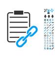 blockchain contract icon with bonus symbols vector image vector image