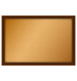 brown board with wooden frame vector image vector image