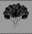 bunch of black helium balloons isolated on vector image vector image