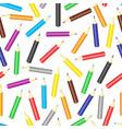cartoon pencils pattern seamless vector image vector image