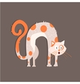 cat with arched back image vector image