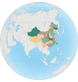 china is a country in east asia on globe vector image vector image