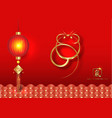 chinese zodiac sign year rat new year vector image vector image