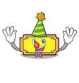 clown ticket mascot cartoon style vector image
