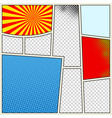 comics book background in different colors blank vector image