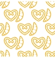 Croissant and pretzel seamless pattern vector image vector image