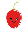 cute tree tomato emoticon vector image