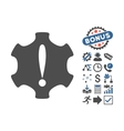 Danger Flat Icon With Bonus vector image vector image