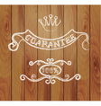 design elements and a wooden background vector image vector image