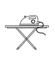 dotted shape iron electrical object and ironing vector image