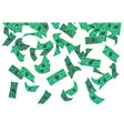 falling money flying green banknotes isolated on vector image