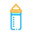 feeding bottle icon outline vector image