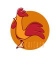 funny chicken mascot design template vector image vector image