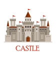 Gray medieval castle with turrets vector image vector image