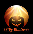halloween background with spooky pumpkin vector image vector image