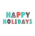 happy holidays christmas greeting card vector image