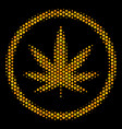 hexagon halftone cannabis icon vector image vector image