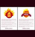 hot sale heraldic icon round label web promo offer vector image vector image
