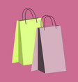 icon in flat design fashion paper bags vector image vector image