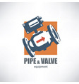 industrial valve stylized symbol piping equipment vector image