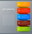 infographic ribbon in modern fashion timeline vector image vector image