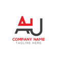 initial au letter logo design modern business vector image vector image