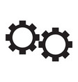 isolated gears silhouette vector image