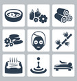 isolated spa icons set vector image vector image