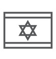 israel flag line icon national and country vector image