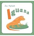 Letter I - Iguana vector image vector image