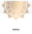 Luxury light mandala background