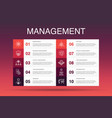 management infographic 10 option template manager vector image vector image