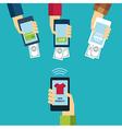 mobile e-commerce concept flat design vector image