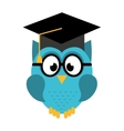 owl graduate isolated icon design vector image