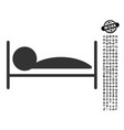 patient bed icon with work bonus vector image vector image