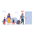 problems in family concept vector image