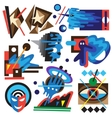 psychology - abstract symbols vector image vector image
