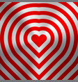 red abstract heart sign on metal texture vector image vector image