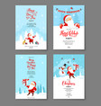 santa holiday winter card vector image vector image