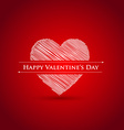 scribble heart Happy Valentines day vector image vector image