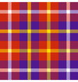 seamless plaid pattern in red purple white and vector image vector image