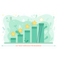 service rate and growth graphic stars and ladder vector image vector image