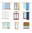 set high quality various vintage windows vector image