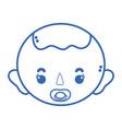 Silhouette baby boy head with pacifier and