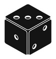 small dice icon simple style vector image vector image