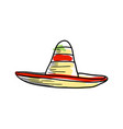 sombrero hat hand drawn icon vector image